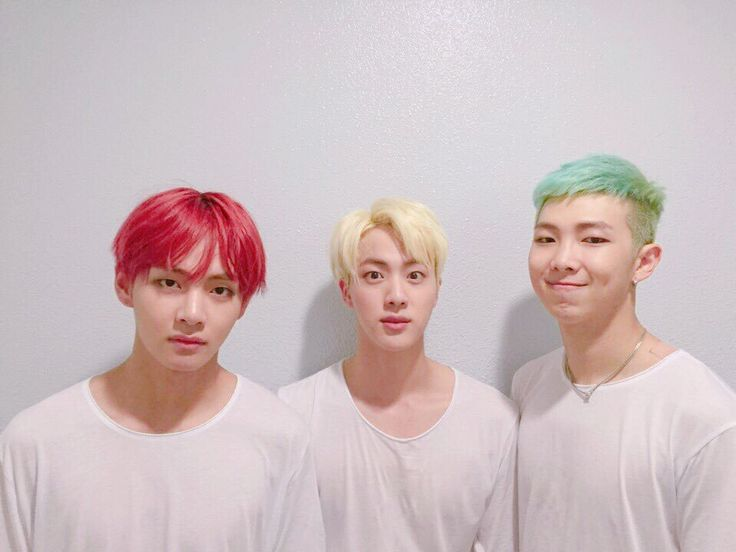 V + Jin + Rap Monster >>their hair is brighter than my future