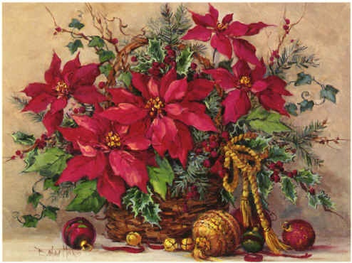 Festive Poinsettia Basket / Barbara Mock