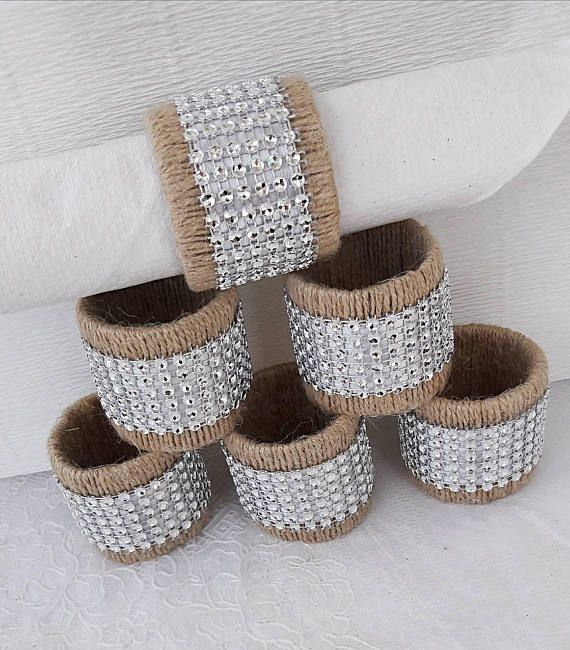 Wedding napkin rings Rustic Table setting Napkin Rings