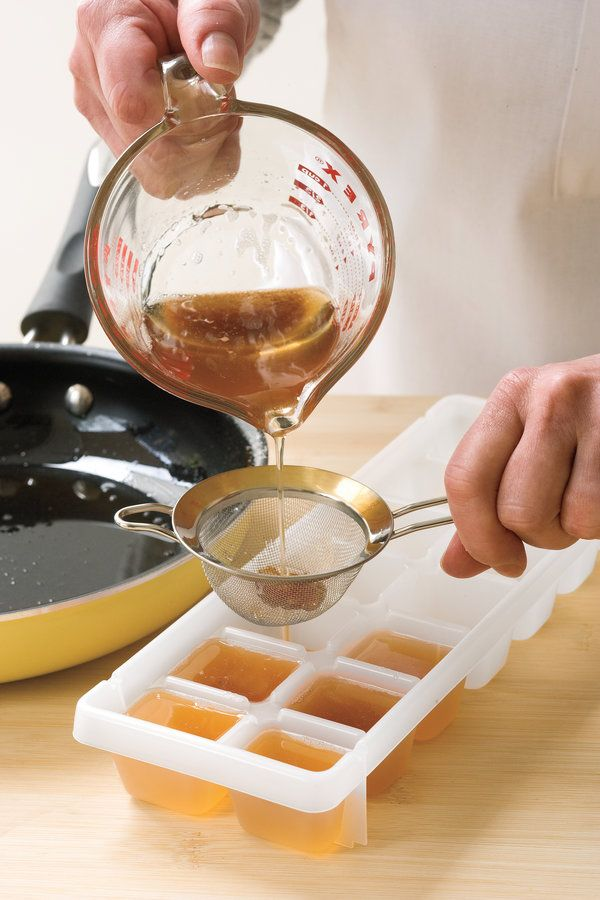 Bacon drippings offer a lot of flavor and can be used to sauté vegetables, fry eggs, or roast potatoes. Test Kitchen Professional Angela Sellers offers this tip for freezing leftover grease and keeping it on hand.    Step 1: Save bacon drippings by pouring it through a fine strainer directly into an ice cube tray. Freeze.  Step 2: Once they're frozen, remove the cubes of bacon drippings and place them in a large zip-top plastic freezer bag. Store in the freezer, and use the cubes whenever…