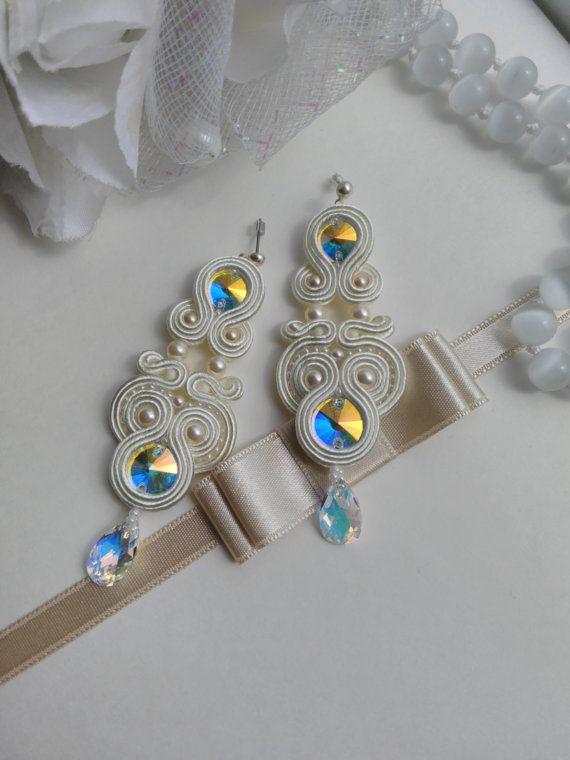 Soutache earrings. Soutache jewelry. Handmade by AMdesignSoutache