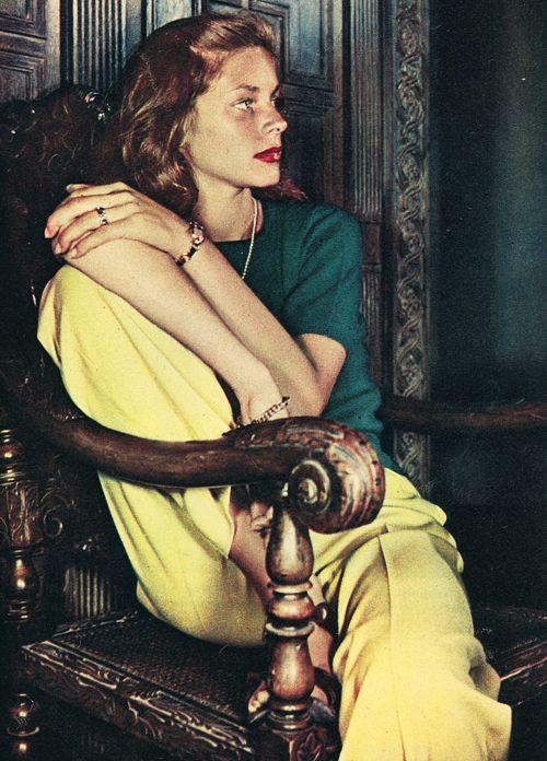 Lauren bacall. 1945.