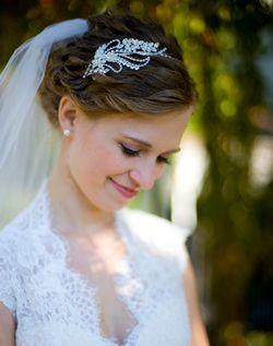 Need ideas for how to wear a veil and headband AND have an updo...this one is pretty good!