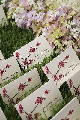 Bridal Bubbly: Cherry Blossom Wedding Details