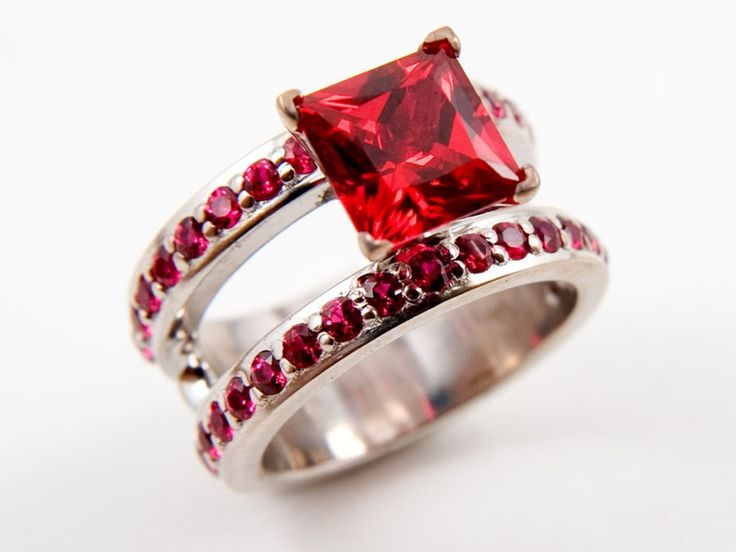 Ruby Wedding Double Ring