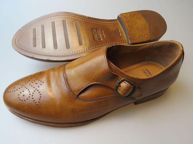 JOHNSTON & MURPHY Chestnut Brown Leather Single Monk Strap Women's Shoes  #JohnstonMurphy #Oxfords #Dress