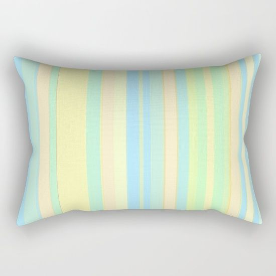 "Our Rectangular Pillow is the ultimate decorative accent to any room. Made from 100% spun polyester poplin fabric, these ""lumbar"" pillows feature a double-sided print and are finished with a concealed zipper for an ideal contemporary look. Includes faux down insert. Available in small, medium, large and x-large. #abstract #art #line #stripes #pastel #color #soft #society6 #buy #sale #throw #rectangular #pillow #apartment #home #decor"