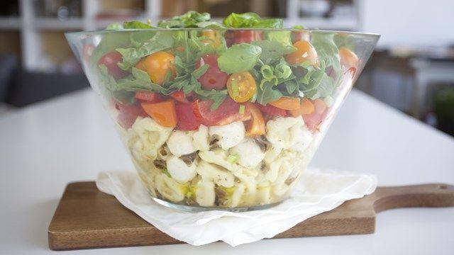 Salade « potluck » Végétarien • Salades • Plats principaux • Lunchs • Pâtes Salade « potluck »
