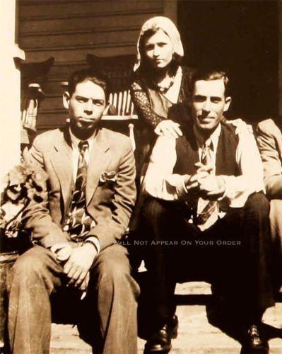BONNIE AND CLYDE PHOTO RARE BUCK BLANCH BARROW W.D. JONES GANGSTERS 1932 20561