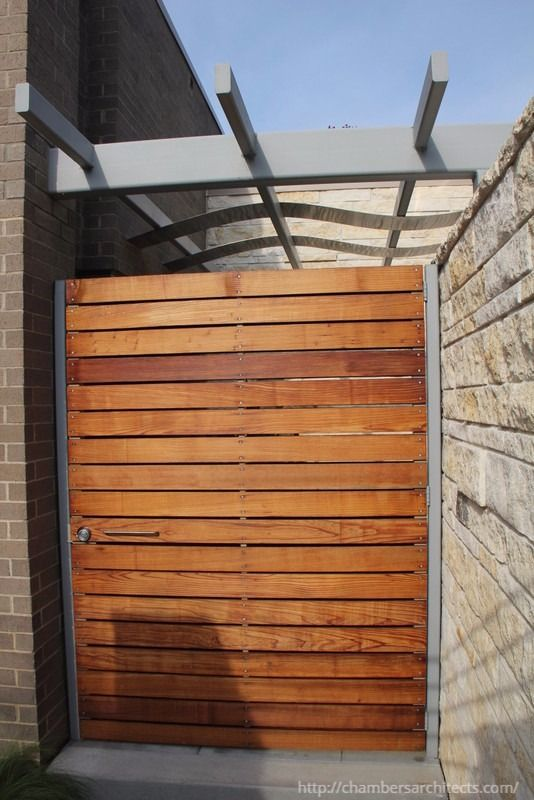 Modern Wood Gate by Dallas Architect, Steve Chambers. - See more at: http://chambersarchitects.com/dallas-modern-architecture.html