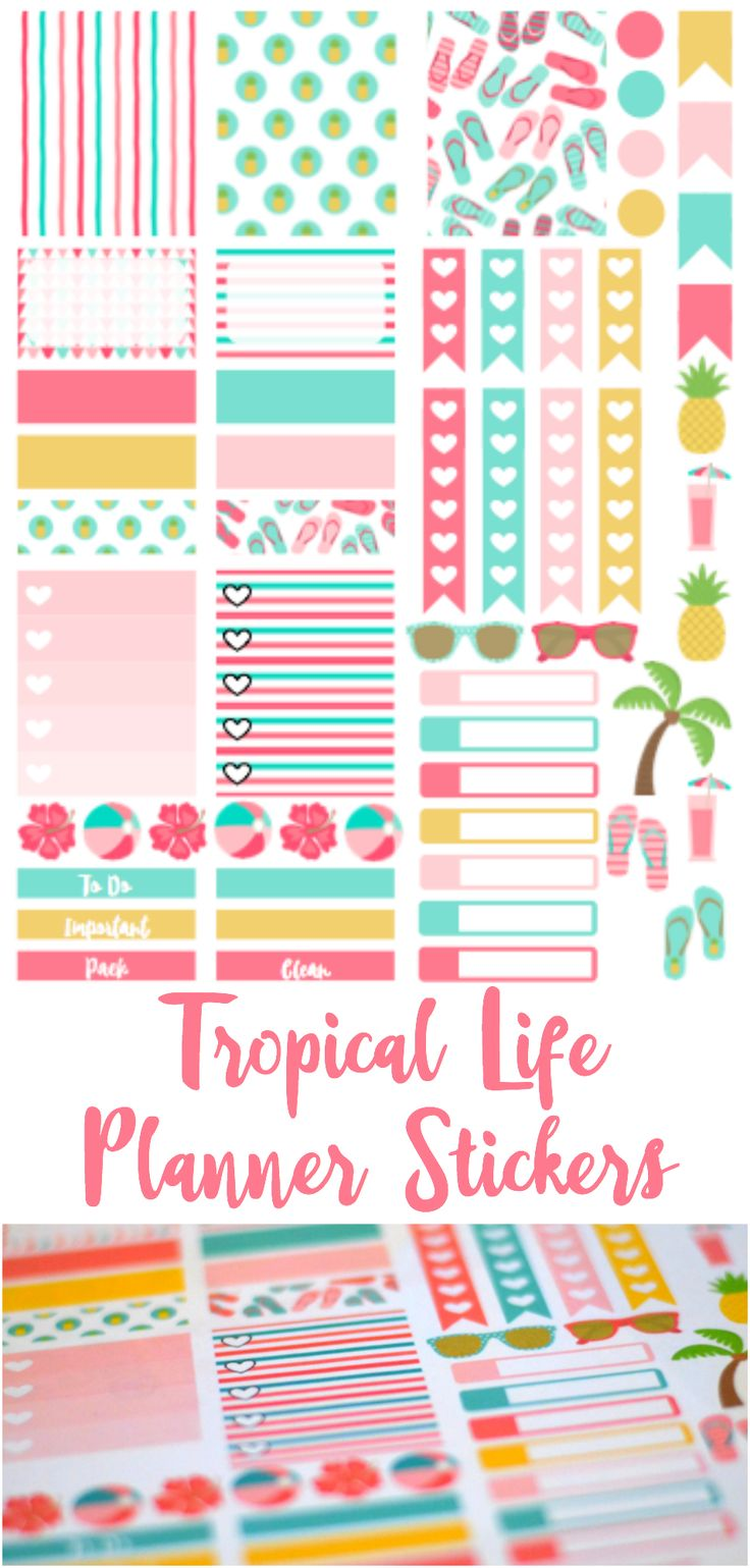 I made this fun set of printable planner stickers in preparation for my mini vacation this weekend & I'm sharing the file with you! #planneraddict