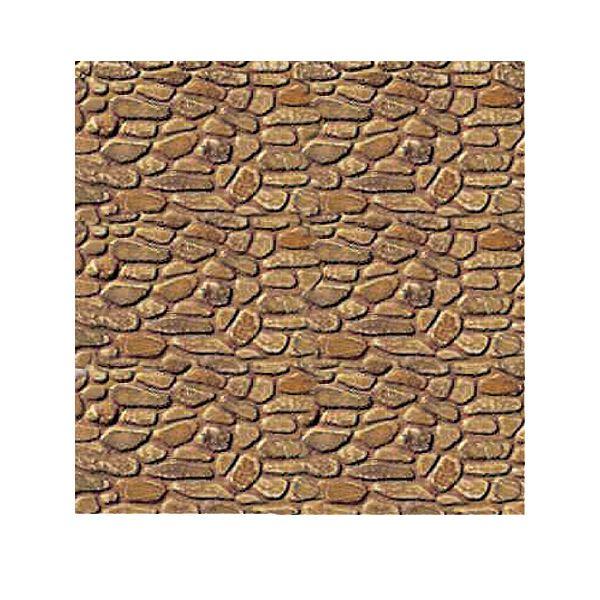 "JTT Plastic Pattern Sheets, O Scale, Field Stone, 7.5""x12"" Sheets, 2 Sheets per Pkg."