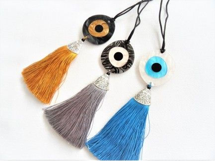 Big Eye tassel Necklace