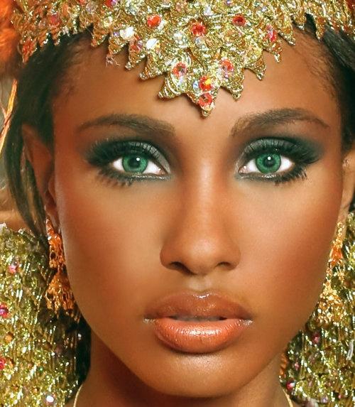 "Latoya Woods ( Green eyes , and .. all ! ): "" Miss Trinidad and Tobago Universe 2010. (Trinidad , and Tobago, South America, Caribbean) .. at The Carnival ... """