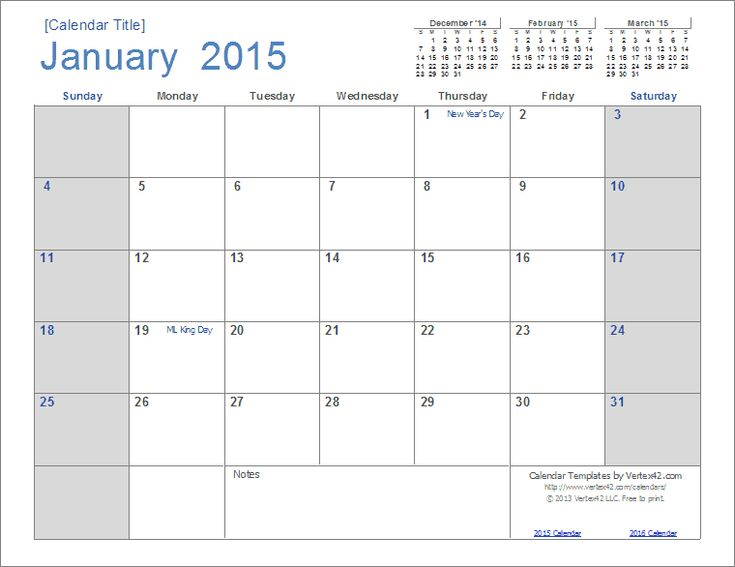 2015 free calendar template | 2015 Calendar Templates and Images