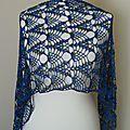 Une écharpe en soie / shawl crochet of silk
