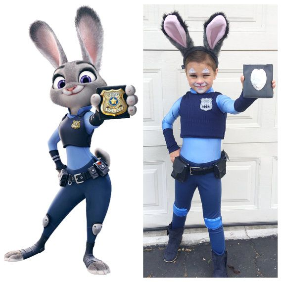 Judy Hopps Costume Zootopia Size Girls 4-6 by JustSewSpecialShop
