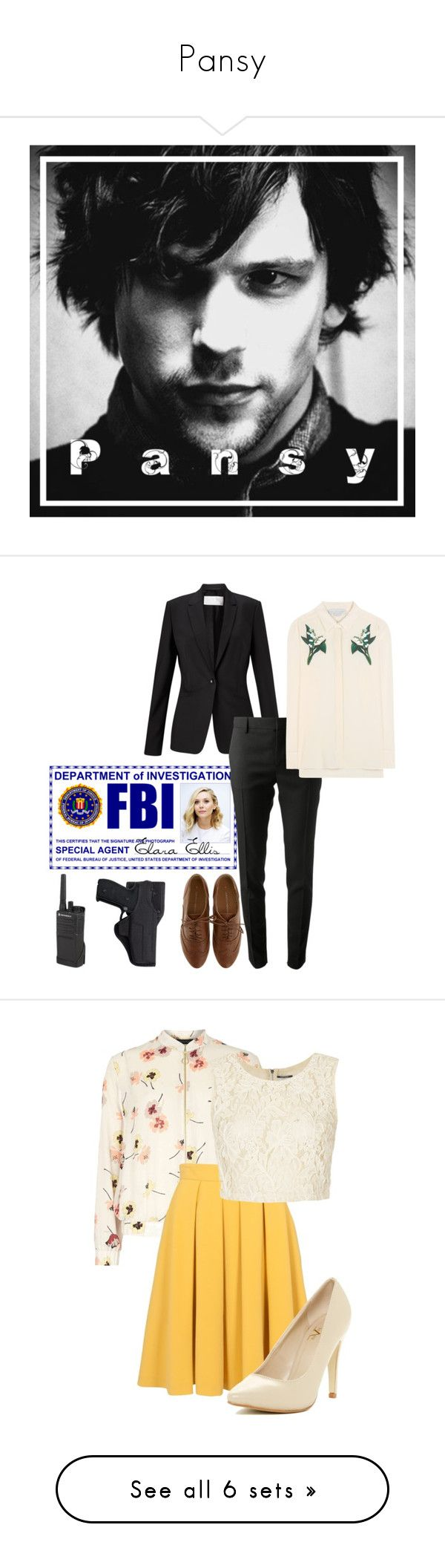 """""""Pansy"""" by cutiestiles on Polyvore featuring art, Olsen, HUGO, Yves Saint Laurent, STELLA McCARTNEY, Dorothy Perkins, Motorola, Holster, French Connection and Versace 19•69"""
