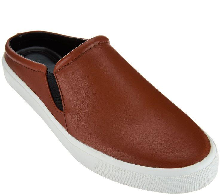 79.18$  Watch here - http://visnj.justgood.pw/vig/item.php?t=anoe2n41980 - Halston Leather Slide-On Round Toe Goring VampShoes Ellie Cognac 10M NEW A273967 79.18$