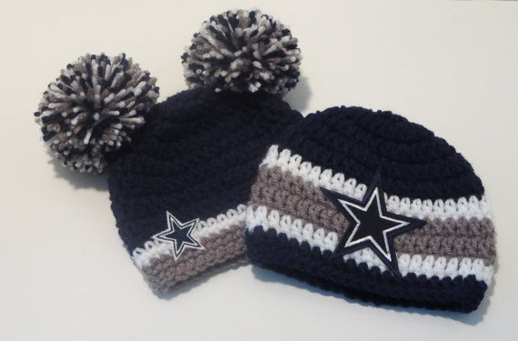 Crochet Dallas Cowboys Inspired Set Hat Beanie Sports