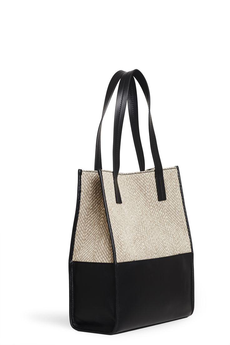 Sara C. Milano Bag - Pelle e tessuto jacquard #bags #theperfectbag #noseasin #madeinitaly #leather #jacquard #design #fashion #altamoda