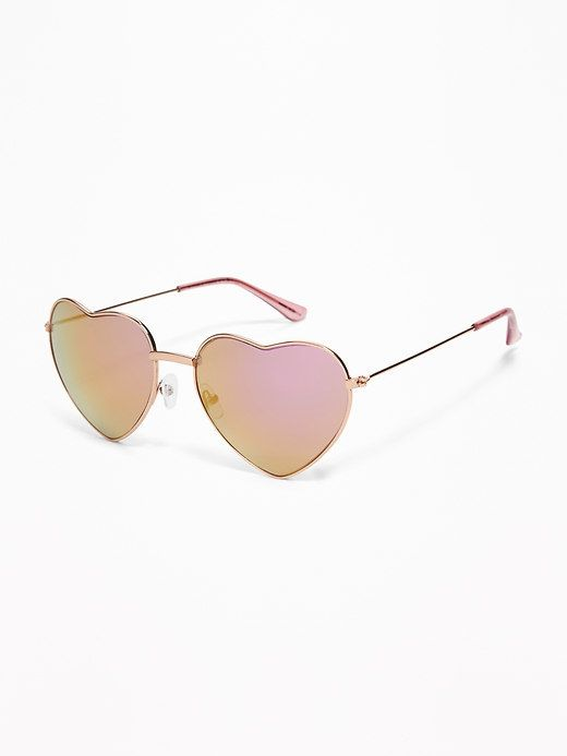 acfbe2b8e0 Old Navy Heart-Shaped Wire-Frame Sunglasses for Women
