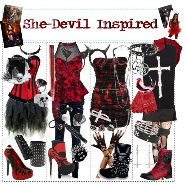 """Is There Anything The Devil Can T Rock Lucifer: """"She-Devil Inspired"""" By Xxxbloodyrosexxx On Polyvore"""