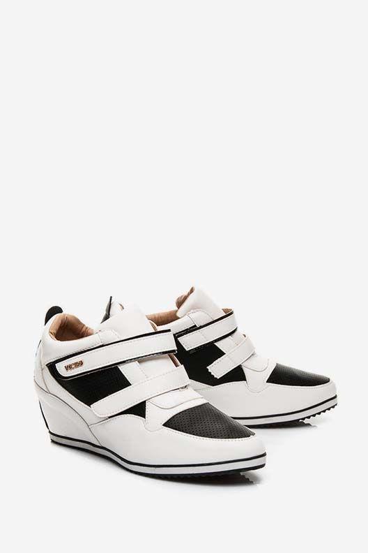 Trampki sneakersy na rzepy białe