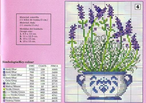 Free levander cross stitch patterns