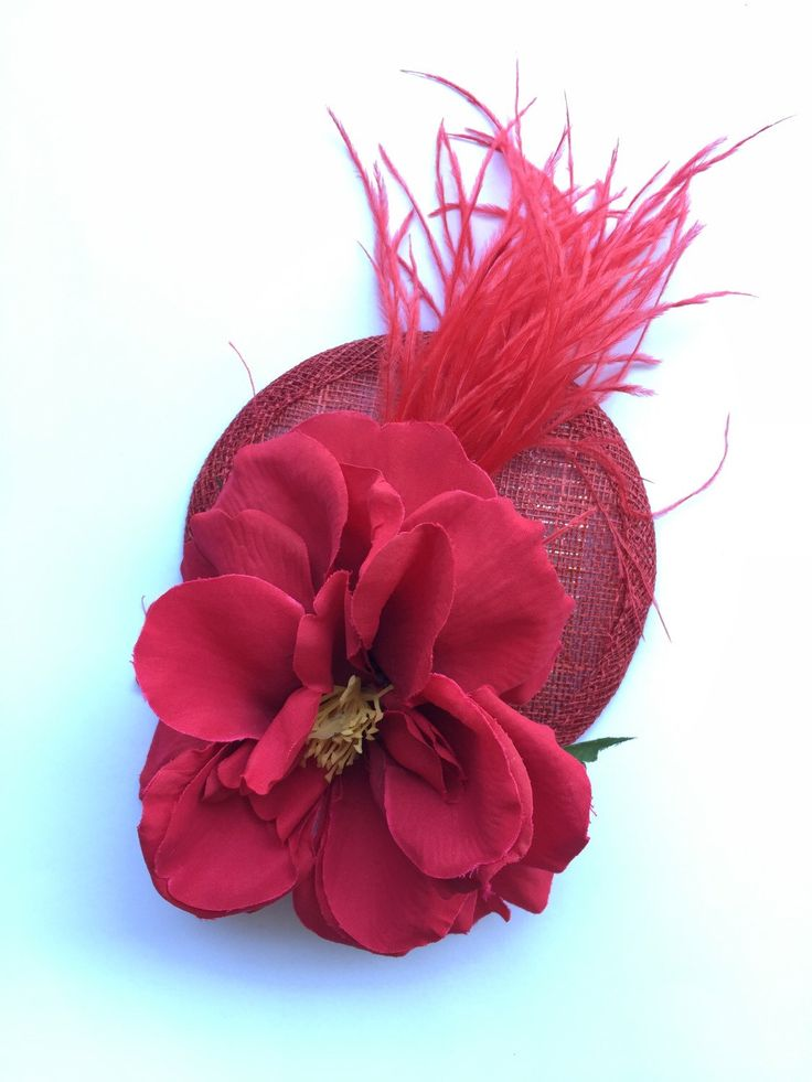 A personal favourite from my Etsy shop https://www.etsy.com/au/listing/251060139/lady-in-red-fascinator