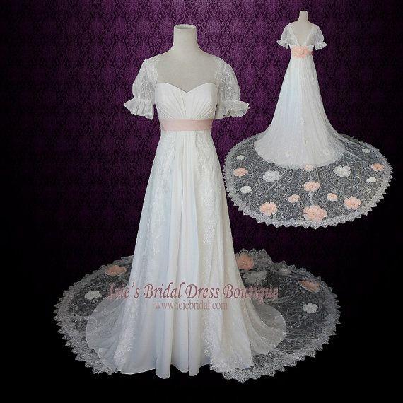 Best 25 peach flowers ideas on pinterest peach bouquet for Regency style wedding dress