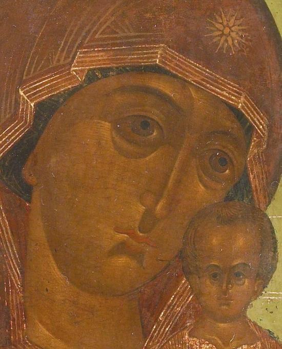 Vista dettagliata: T189. Vergine di San Pietro di Mosca-Esposto alla Galleria Tempio, specialisti in icone russe