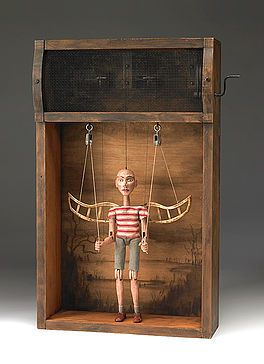 Atlanta sculptor Tom Haney, maker of one-of-a-kind, hand-crafted automata, kinetic art, mechanical sculpture and other works of modern folk art.