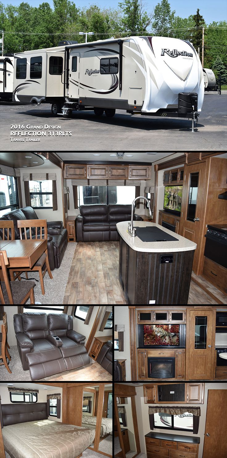 Living Rooms Layouts: This 2016 Grand Design REFLECTION 313RLTS Travel Trailer