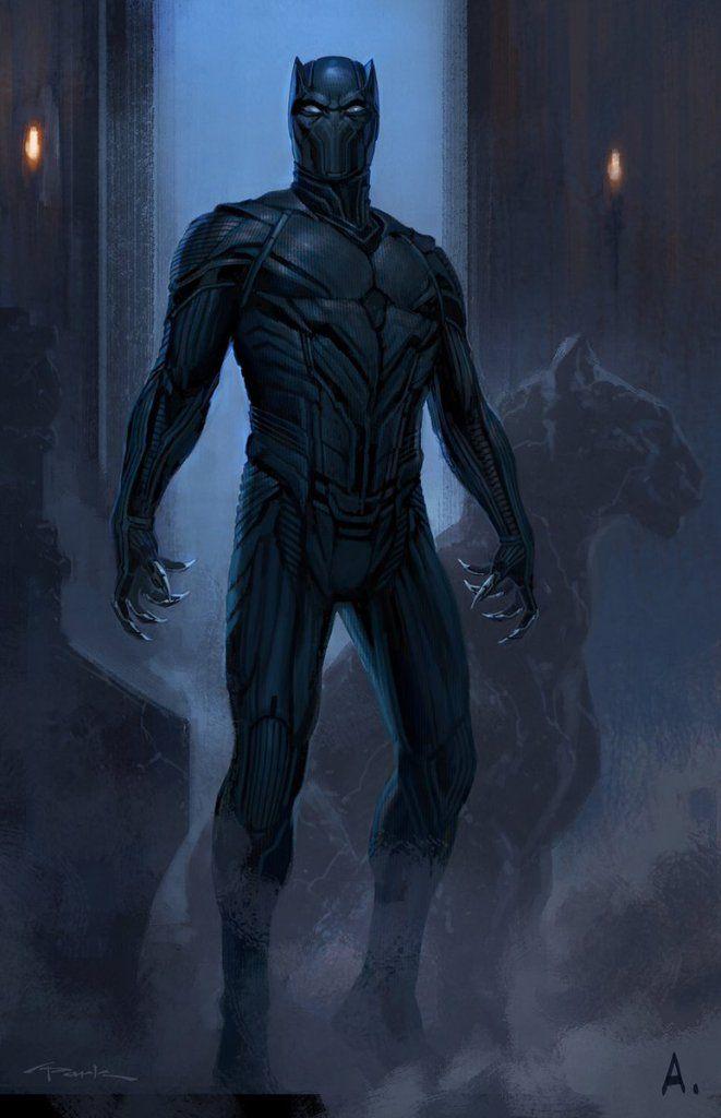 Capitão América: Guerra Civil   Confira design alternativo do traje do Pantera Negra
