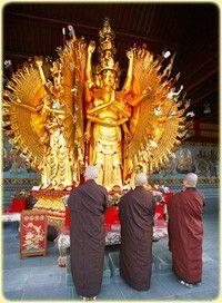 Thousand Hands Thousand Eyes Bodhisattva at  the International Buddhist Society Temple
