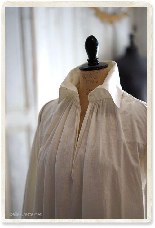 ヴィクトリアン アンティークシャツ - 【Belle Lurette】ヨーロッパ フランス アンティークレース リネン服の通販