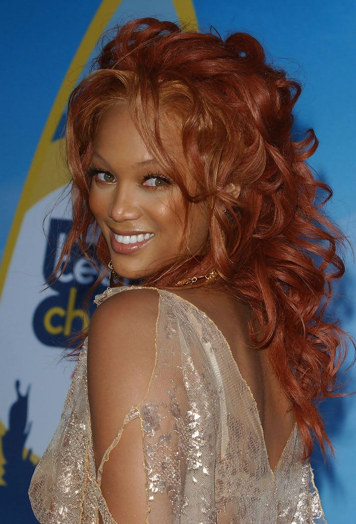 Tyra Banks Long Curls