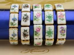 Herendi porcelain bracelet, Hungary. Classy!
