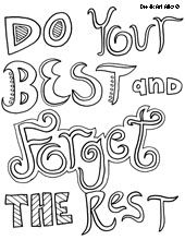 all quotes coloring pages - Best Color Sheets