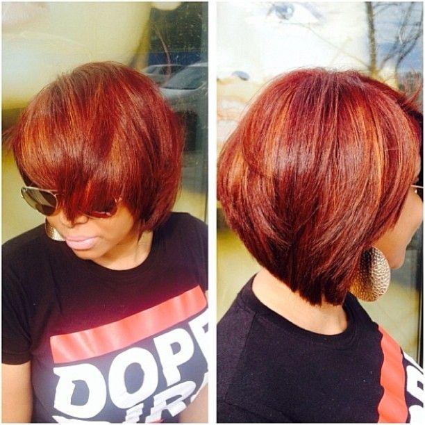 Fall into this bob!!!!! Cut by @beautiful_hairdiva! #liketheriversalon #flowing #fallcolors