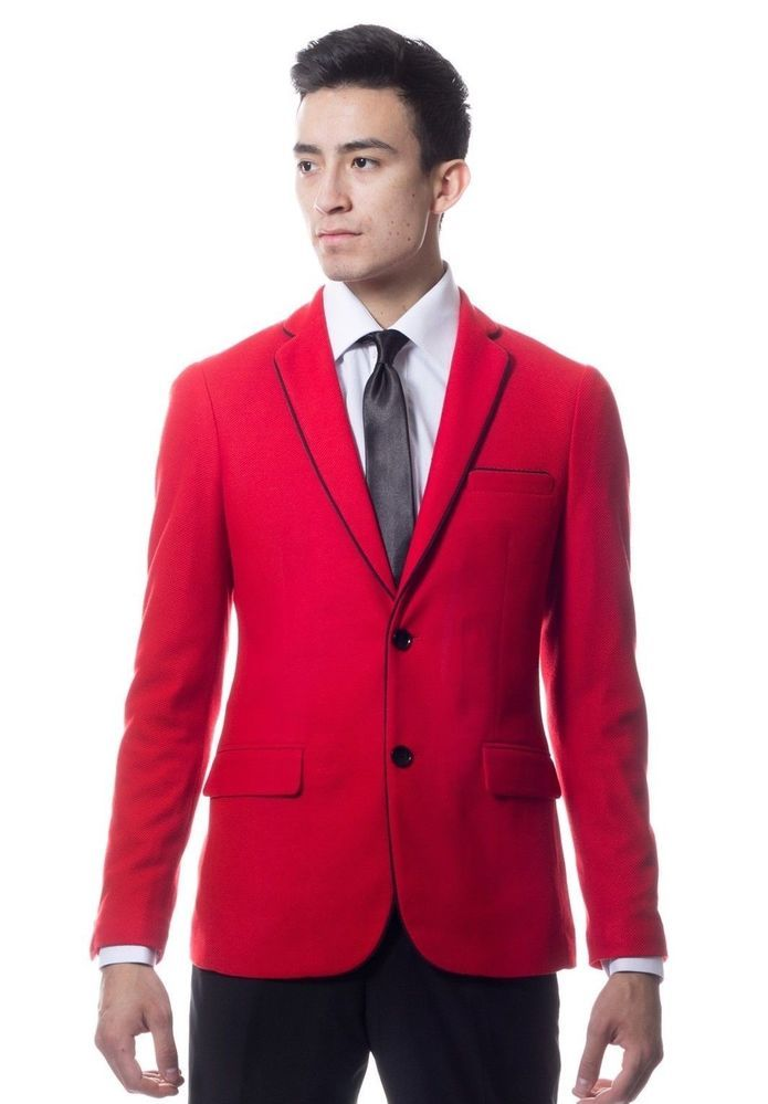 Red Mens Suit Jacket | My Dress Tip