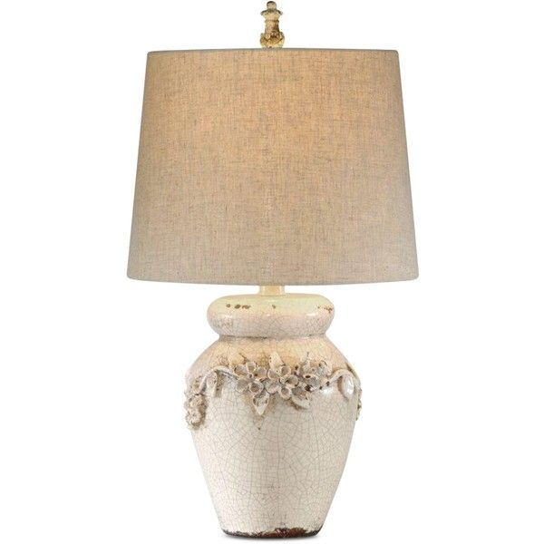 Bassett Eleanore Table Lamp ($249) ❤ liked on Polyvore featuring home, lighting, table lamps, beige, cream table lamps, basset mirror company, beige table lamps, crackle lamp and floral lamps