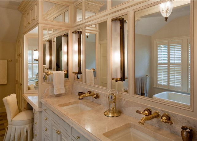 Towel Bar Mounted On Mirror Panel