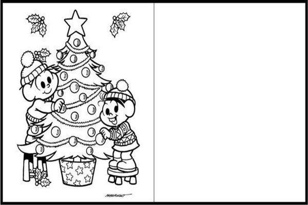 Cartao De Natal Para Imprimir Turma Monica Como Fazer Artesanato