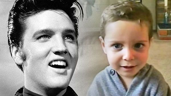 """Elvis presley Songs - 2-Year-Old Jared Adorably Covers Elvis' """"Are You Lonesome Tonight"""" 