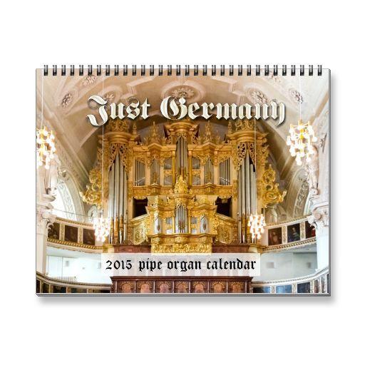Just Germany - pipe organ calendar for 2015