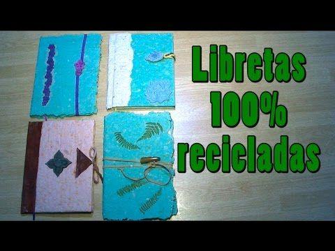 023. Reciclar papel: libretas 100% recicladas - YouTube