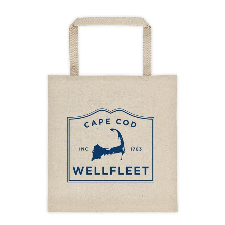 Wellfleet Cape Cod Tote Bag | Get your own Cape Cod Town T-shirt at capecodinsta.com Wear your town! @capecodinsta