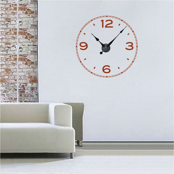 Simple Clock Decal  sc 1 st  Pinterest & The 25+ best Clock Wall Decals images on Pinterest | Clock wall ...